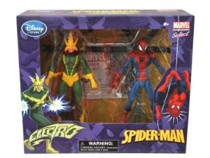 Action Figure Marvel Select Spider-Man & Electro Two Pack Disney Exclusive