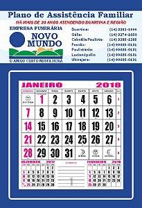 Folhinha Comercial de Parede - 2019. 250 unidades.