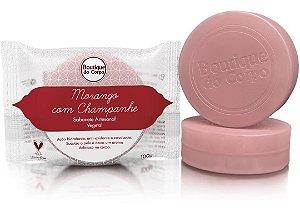 Sabonete Artesanal Morango com Champanhe Boutique do Corpo 100g
