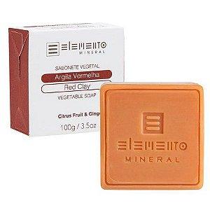 Sabonete de Argila Vermelha Elemento Mineral 100g