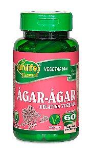 Ágar Ágar Gelatina Vegetal Unilife 60 Cápsulas