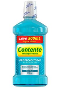 Enxaguante Bucal Contente Menta - Leve 500ml Pague 350ml