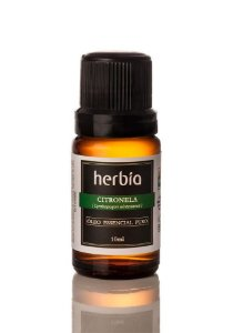 Óleo Essencial de Citronela Orgânico Herbia 10ml