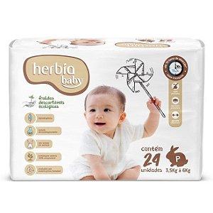 Fralda Descartável Ecológica Herbia Baby P - 24 unidades