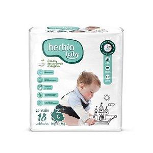 Fralda Descartável Ecológica Herbia Baby G - 18 Unidades