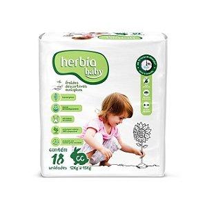 Fralda Descartável Ecológica Herbia Baby GG - 18 Unidades