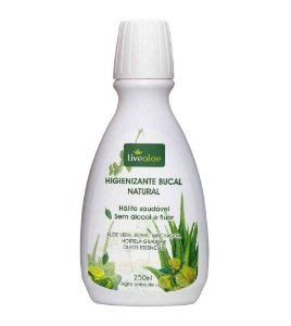 Enxaguante Bucal Natural Sem Flúor LiveAloe 250ml
