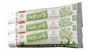 Pasta de Dente Natural Orgânica Sem Flúor - Kit 3 unidades