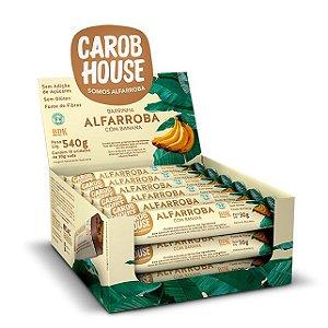 Alfarroba com Banana Carob House 30g - Caixa com 18 unidades