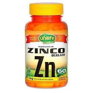 Zinco Quelato Unilife - 60 Cápsulas