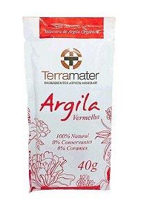 Argila Vermelha Orgânica Terramater - Anti-idade 40g