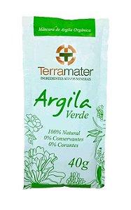 Argila Verde Orgânica Terramater - Antioleosidade 40g