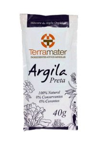 Argila Preta Orgânica Terramater - Proteção Térmica 40g