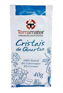 Cristais de Quartzo Orgânicos Terramater - Esfoliante Natural 40g