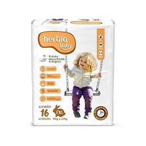 Fralda Descartável Ecológica Herbia Baby EXG - 16 Unidades