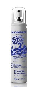 Desodorante Natural Spray Pepino e Chá Verde Contente Suavetex 120ml