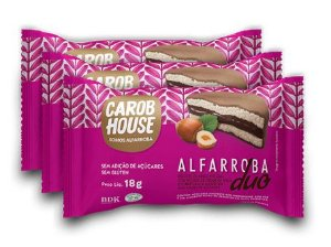 Alfarroba Duo Biscoito de Arroz com Creme de Avelã Carob House 18g - Com 3 unidades