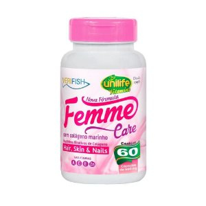 Colágeno Feminino Femme Care Unilife - 60 Cápsulas