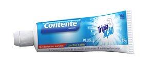 Mini Creme Dental Vegano Contente Tripla Ação 18g - Kit 10 Unidades