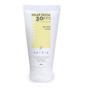 Protetor Solar Natural Vegano Herbia Rosto - Pele Mista ou Seca Fps 30