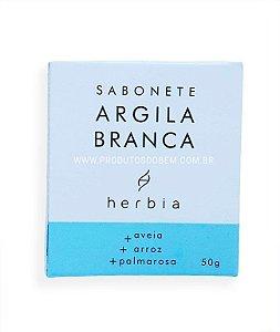 Sabonete de Argila Branca Natural Herbia 50g