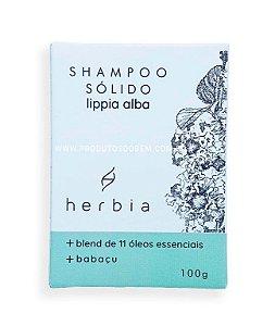 Shampoo Sólido Vegano Natural Lippia Alba Herbia 100g