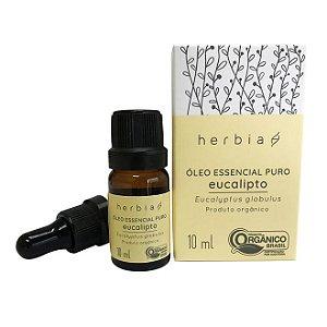 Óleo Essencial Orgânico de Eucalipto Herbia 10ml