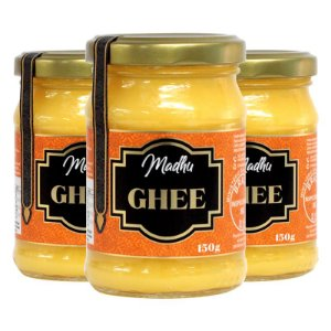 Kit 3 Manteiga Ghee Madhu 150g