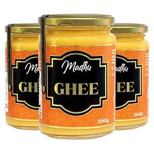 Kit 3 Manteiga Ghee Madhu 300g