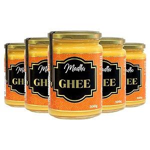 Kit 5 Manteiga Ghee Madhu 300g