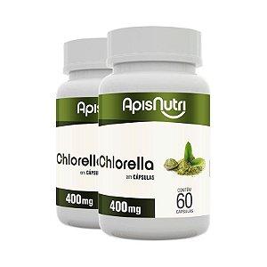 Kit 2 Chlorella Clorela Apisnutri 60 cápsulas