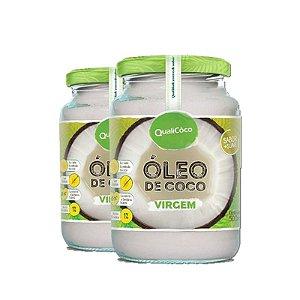 Kit 2 Óleo de Coco virgem 500ml Qualicôco