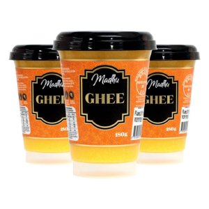 Kit 3 Manteiga Ghee Madhu 180g