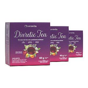 Kit 3 Diuretic Tea Sanavita 30 sachês