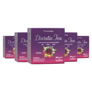 Kit 5 Diuretic Tea Sanavita 30 sachês