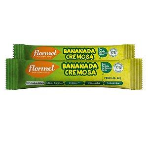 Kit 2 Bananada Cremosa Flormel Zero Açúcar 22g
