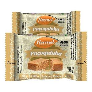 Kit 2 Paçoca Flormel Zero Açúcar 20g