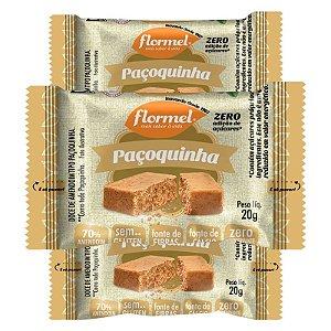 Kit 3 Paçoca Flormel Zero Açúcar 20g