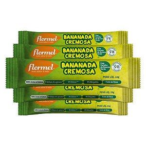 Kit 5 Bananada Cremosa Flormel Zero Açúcar 22g