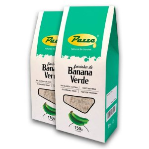 Kit 2 Farinha Banana Verde Pazze 150 gramas