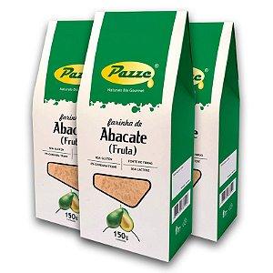 Kit 3 Farinha de Abacate Pazze 150 gramas