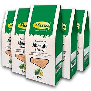 Kit 5 Farinha de Abacate Pazze 150 gramas