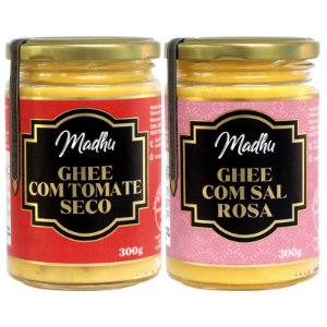 Kit 2 Manteiga Ghee Madhu Sal Do Himalaia/tomate seco 300g