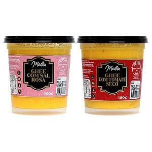 Kit 2 Manteiga Ghee Madhu Sal Do Himalaia/tomate seco 400g