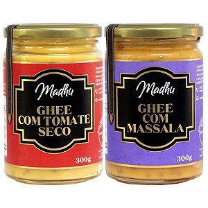 Kit 2 Manteiga Ghee Madhu Tomate Seco/massala 300g