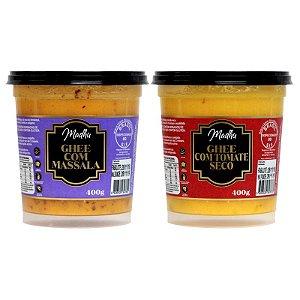 Kit 2 Manteiga Ghee Madhu Tomate Seco/massala 400g