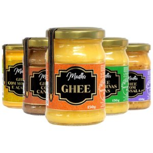 Kit 5 Manteiga Ghee Madhu Diversos 5 150g