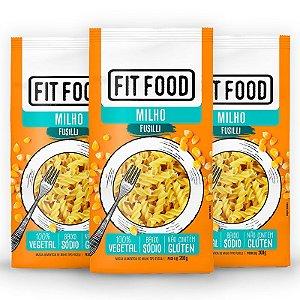 Kit 3 Macarrão Fusilli Fit Food Milho 200 gramas