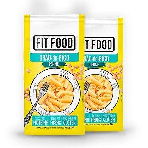 Kit 2 Macarrão Penne Fit Food Grão de Bico 200 gramas