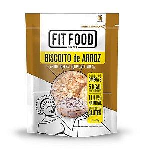 Biscoito de Arroz Fit Food Quinoa + Linhaça 90 gramas